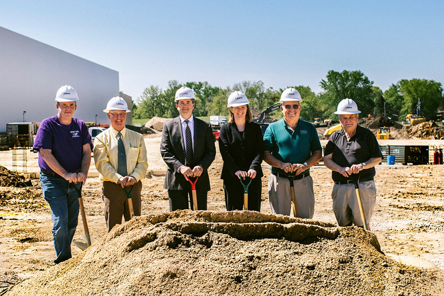 Groundbreaking ceremony for Certco cooler expansion