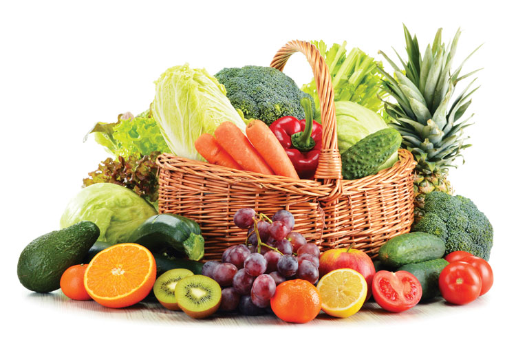 Fresh produce basket