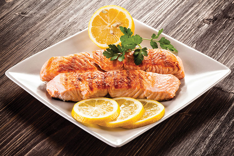 Grilled fish filet