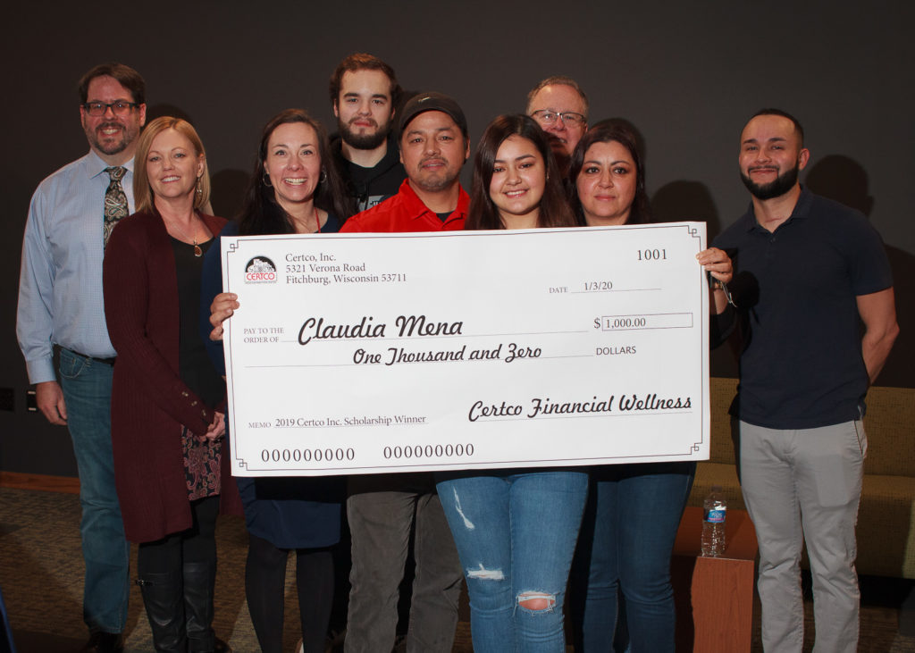 Claudia Mena, winner of the 2019 Certco Proud Scholarship