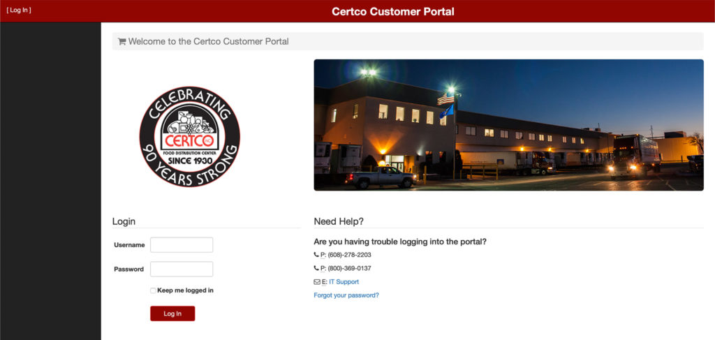Certco Customer Portal